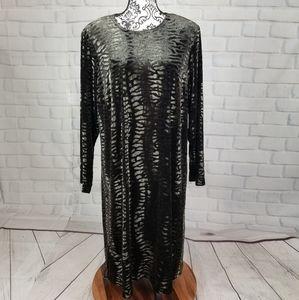 Avenue animal print stretch knit dress size 18/20